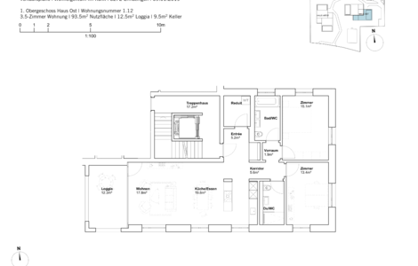 house east 3.5 room apartement 1st Fl.