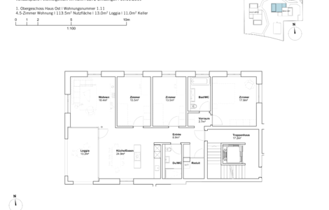 house east 4.5 room apartement 1st Fl.