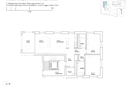 house west 3.5 room apartement 2nd Fl.